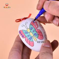 Đồ chơi vẽ và tô màu trứng kèm 4 bút dạ cho trẻ em từ 3 tuổi trở lên sáng tạo và phát triển năng khiếu mỹ thuật