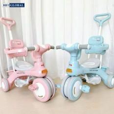 Xe đẩy đi bộ xe đạp 3 bánh 618 có cần đẩy phát nhạc cho bé