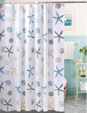 Rèm cửa nhà tắm Loại tốt 1.8m – Màn treo phòng tắm chống thấm hình sao biểncao cấp Loại dày Giá rẻ TOP sản phẩm HOT 2019 Sale 50% FULL Đơn