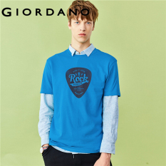 (HOT) Áo thun nam tay ngắn in hình đơn giản trẻ trung chất liệu cotton họa tiết vũ trụ Giordano Men 01089005
