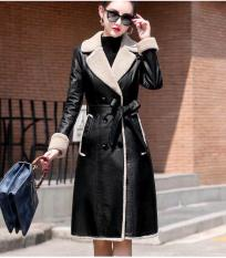 Áo khoác da lót lông ấm áp