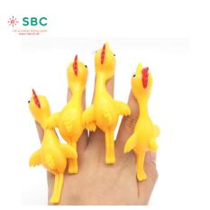 [HCM]Đồ chơi gà bắn dính bằng cao su chơi siêu vui 1 con