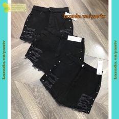 Quần giả váy kaki nữ rách đính hạt cườm mẫu 103 màu đen size S,M,L YANTV MT811, mt388, mt311, mt706, mt801 phong cách Hàn Quốc năng động