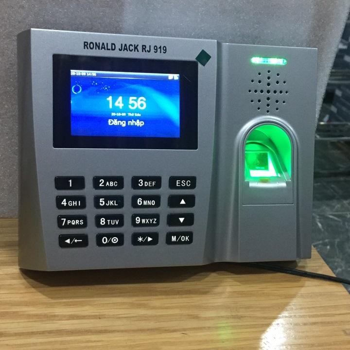 [Trả góp 0%]Máy chấm công vân tay & thẻ từ Ronal Jack RJ-919