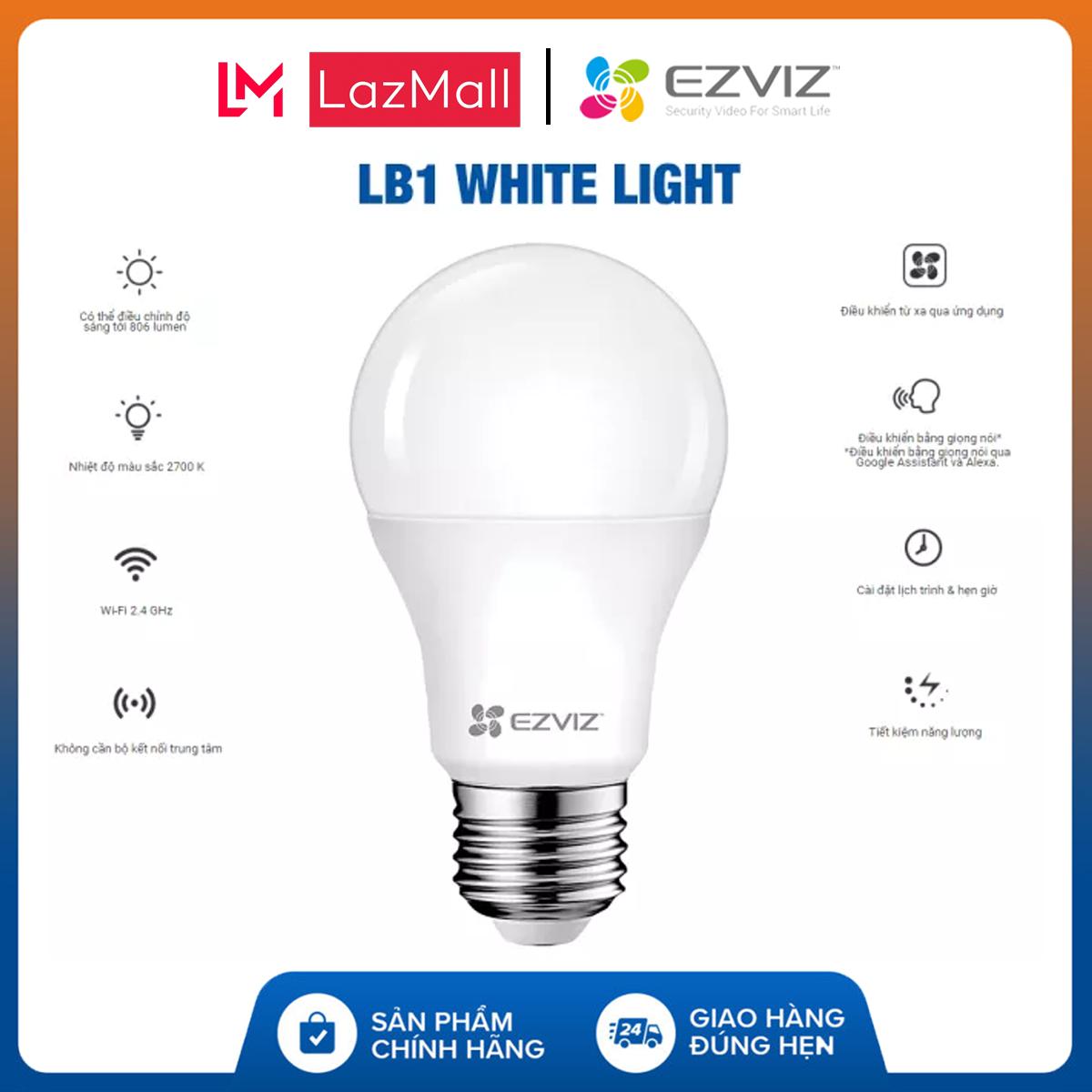 [EZVIZ CHÍNH HÃNG] Đèn LED thông minh EZVIZ CS-HAL-LB1-LWAW (LB1 White Light) – Ánh Sáng Vàng – EZVIZ Chính Hãng