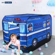 Nhà bóng cho bé mô hình xe cảnh sát 995-7067B – nhà banh, quây bóng, do choi tre em