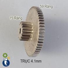 Bánh Răng Thép Trục 4.1mm 15 Răng 0.8M 59 Răng 0.6M