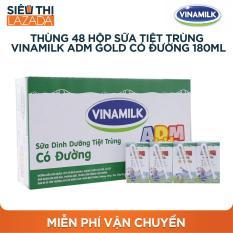 Thùng 48 hộp sữa tiệt trùng Vinamilk ADM Gold có đường 180ml