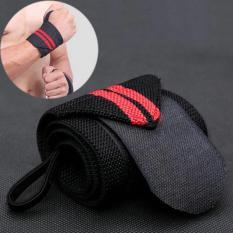 Dây quấn cổ tay – Đai quấn bảo vệ cổ tay hỗ trợ Tập Gym, Nâng Tạ sọc đỏ (2 cái)