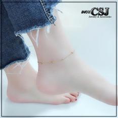 LẮC CHÂN TITAN CHỮ CONG BI CÁCH ĐIỆU VÀNG TƯƠI TA518 siêu đẹp