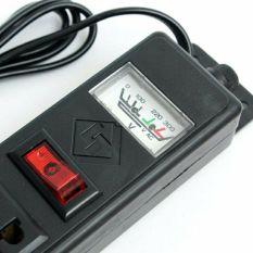 Ổ cắm điện 6 lỗ có đồng hồ báo dài 2m
