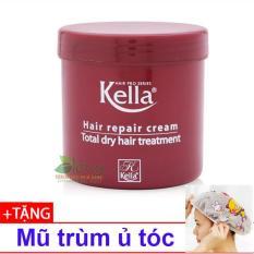 Hấp dầu suôn mềm bóng tóc Kella 500ml + 01 mũ trùm ủ tóc
