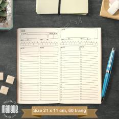 """Sổ tay planner """"3 Đầu 6 Tay"""" bìa cứng 21×11 to-do list, thời gian biểu, check list, nhắc việc, lịch hẹn"""