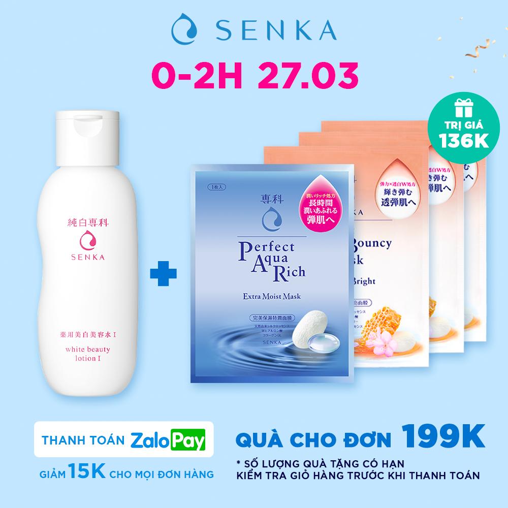 Nước dưỡng làm mềm và trắng da Senka White Beauty Lotion I 200ml