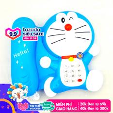 Điện thoại đồ chơi hình chú mèo máy xanh dương dùng pin có nhạc, đèn đáng yêu cho bé 127 – Đồ khuyến mãi giá tốt