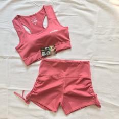 Bộ tập Gym nữ, đồ tập Gym nữ ,bộ cộc chất mát co giãn 4 chiều BTG19