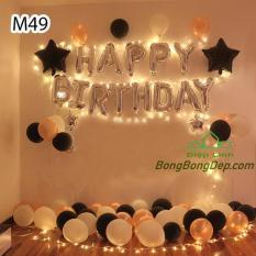 Sét bong bóng sinh nhật trang trí gồm bóng siêu nhũ bóng nhũ nhiều mẫu – Diệp Linh