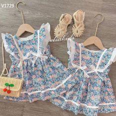 Váy hoa nơ cánh tiên cho bé gái
