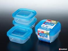 Set 3 hộp đựng thực phẩm 380ml thương hiệu Nakaya Nhật Bản
