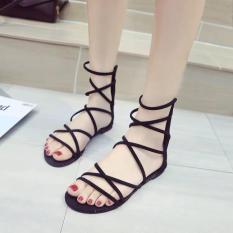 Sandal chiến binh gót kéo khóa – Sandal nữ, dép sandal nữ, giày sandal nữ, sandal đi học, sandal phong cách hàn quốc, sandal đế bằng, sandal đế bệt, sandal quai ngang, sandal 3 quai, sandal ulzzang