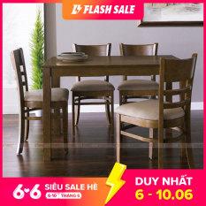 [Freeship]Bộ bàn ăn 4 ghế Ulsan màu tự nhiên| IBIE. Tùy chọn theo yêu cầu, gia công tỉ mỉ, chất lượng xuất khẩu. Miễn phí vận chuyển, bảo hành 12 tháng