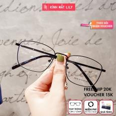 Gọng kính kim loại nữ mắt vuông Lilyeyewear 8818 nhẹ nhàng thanh mảnh giúp người đeo thoải mái phù hợp với nhiều khuôn mặt gọng kính có nhiều màu một size kèm quà