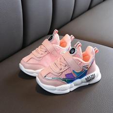 Giày bé gái cao cấp 9012SS màu hồng, siêu nhẹ phong cách Hàn Quốc dành cho bé 1-7 tuổi