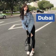ÁO KHOÁC JEAN NỮ 3 NÚT SAU PHONG CÁCH HÀN QUỐC DB- DUBAI FASHION