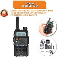 Bộ đàm Baofend UV5R kèm tai nghe có mic, có Lcd, 2 Băng Tần VHF/UHF, đài FM, báo động khẩn, đèn pin – Bảo hành 1 tháng