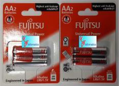 2 vỉ Pin AA ALKALINE FUJITSU – LR6(2B) – 2 vỉ (4 viên) – Made in Indonesia
