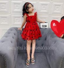 Đầm xòe bé gái họa tiết trái tim cực xinh