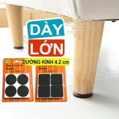 Combo 8 Miếng Lót Kê Chân Bàn Ghế Giường Tủ Vật Dụng chống trầy xước, giảm tiếng ồn (Loại Dày-Lớn đường kính 4.2cm)