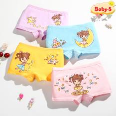 Quần chip đùi cho bé, Quần chip đùi cotton hình cô bé nhiều màu sắc cho bé gái 2-12 tuổi chất cotton nhẹ mát co giãn thoải mái Baby-S – SC005