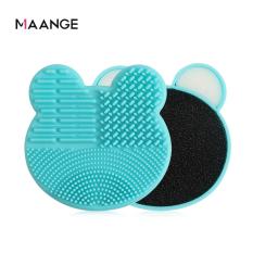 MAANGE Makeup Brush Cleaning Tool Sponge Eye Shadow Brush Cleaning Box Cleaning Pad