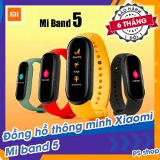 [Sẵn Hàng] Đồng hồ thông minh Xiaomi Mi Band 5 / Vòng tay theo dõi sức khoẻ Miband 5 – Theo dõi nhịp tim – Thông báo tình trạng sức khỏe – Nhiều chế độ tập luyện thể thao – Chống nước – Màu đen [ Bảo hành 6 tháng ]