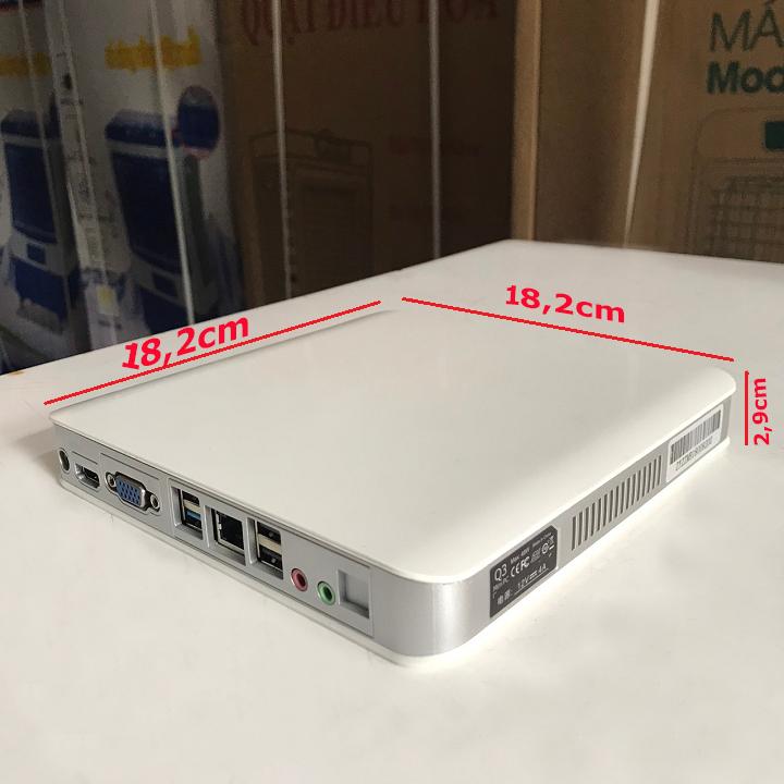 Case máy tính siêu Q3 mini PC có HDMI xuất âm thanh và hình ảnh