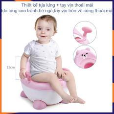 Bô trẻ em, Bô ngồi có tựa lựng, tay cầm cho bé, chất liệu nhựa PP cao cấp, đệm ngồi chất liệu Pu siêu mềm
