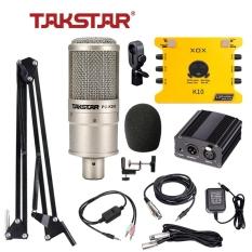 Combo mic thu âm chuyên nghiệp – Micro Takstar PC K200, Soundcard K10/KS108 và đầy đủ các thiết bị đi kèm [BH 1 NĂM]