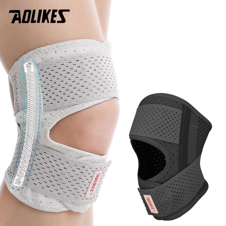 Đai bảo vệ đầu gối chạy bộ AOLIKES A-7901 phong cách Nhật Bản Knee Support Braces