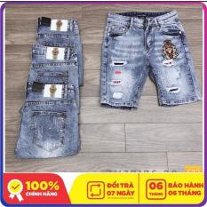 Quần short jean nam chât bò lazado-ms 622-màu xanh nhạt-phong cách hàn quốc-không nhăn-không ra màu