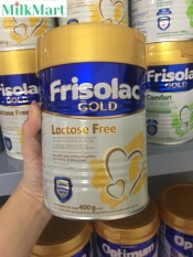 (Date 12/2021) Sữa bột Friso Frisolac Gold Lactose Free 400g dành cho bé bất dung nạp lactose, tiêu chảy