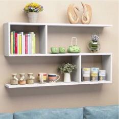 Kệ sách gỗ treo tường 2 ngăn dài 80cm (như hình)