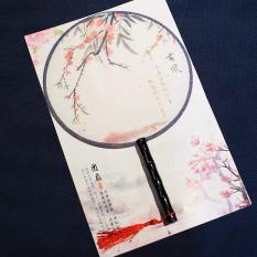 Quạt tròn cổ trang họa tiết mỹ nữ triều đường