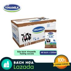 Thùng 48 bịch Sữa Dinh Dưỡng Vinamilk Sôcôla 220ml