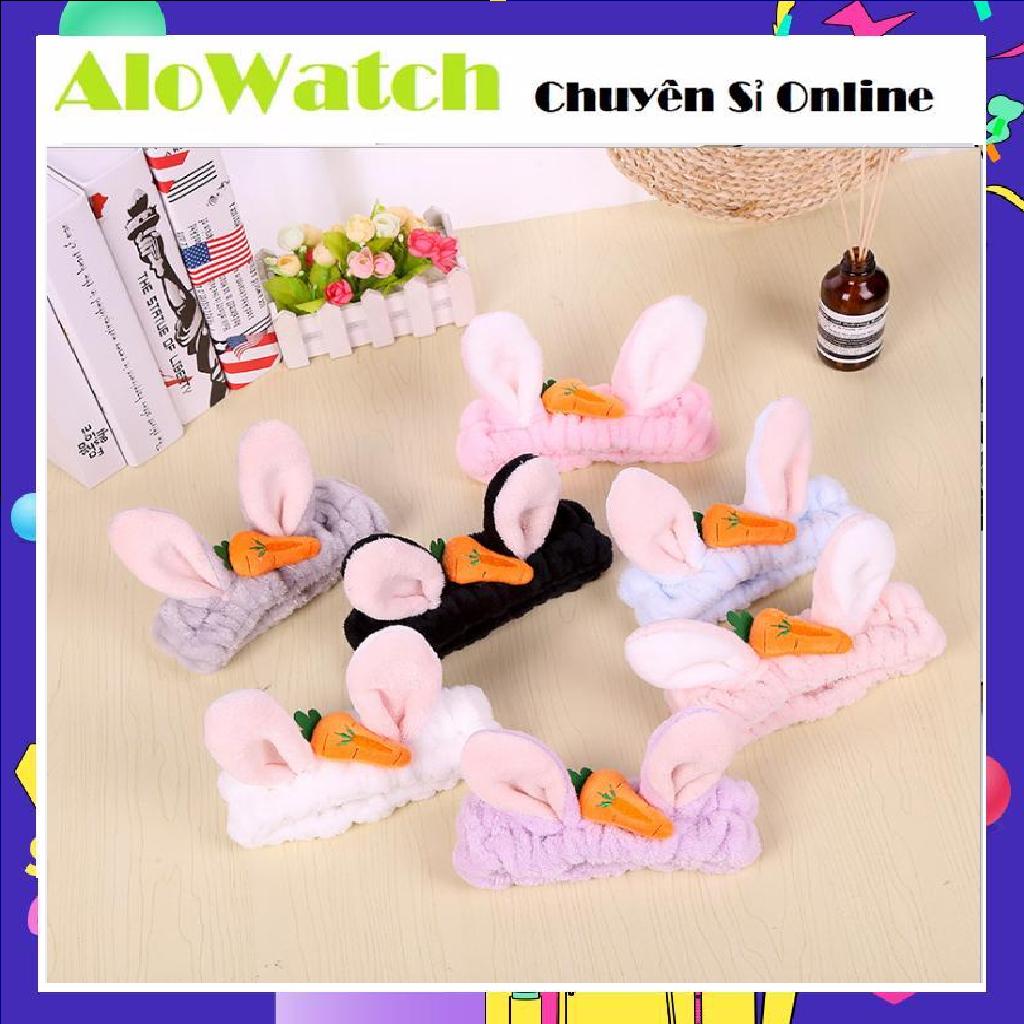 ALOWATCH Băng Đô 3D Thỏ Cà Rốt Dày Mềm Mịn Cao Cấp