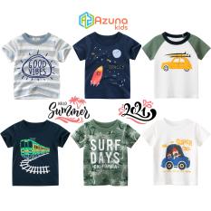 Áo thun bé trai 27Kids áo cộc cho bé chất cotton hàng nhập khẩu – S1013-16