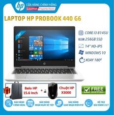 [Tặng Balo HP 15.6 + Chuột HP X3000-giao sau 15 ngày]Laptop HP ProBook 440 G6 (Core i3 8145U,4GB RAM DDR4,256GB SSD,Intel UHD Graphics,14 HD,Win10Home) 8GV28PA Hàng Chính Hãng