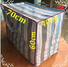Túi bạt đựng đồ size Đại 70x40x60cm kẻ xọc gia công bền chắc