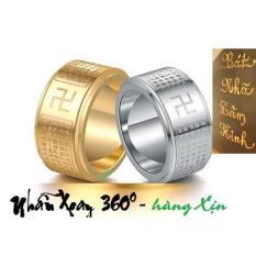 Nhẫn Bát Nhã Tâm Kinh Bằng Titan mạ Vàng ,Đảm Bảo Không Đen, Xoay 360 độ – Xuất xứ từ Tây Tạng và được khai quang tại Thái Lan