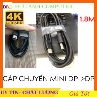 Dây cáp Mini displayport to displayport 1.8m- Dây Zin Theo LCD DELL- Hỗ Trợ 4k, Mini DP to DP- Cáp Cao Cấp Đi Kèm LCD DELL Ultra